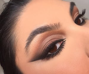 eyebrows, eyeliner, and lashes image