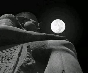 ancient egypt, black and white, and night image