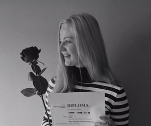 girl, turtle neck, and graduation image