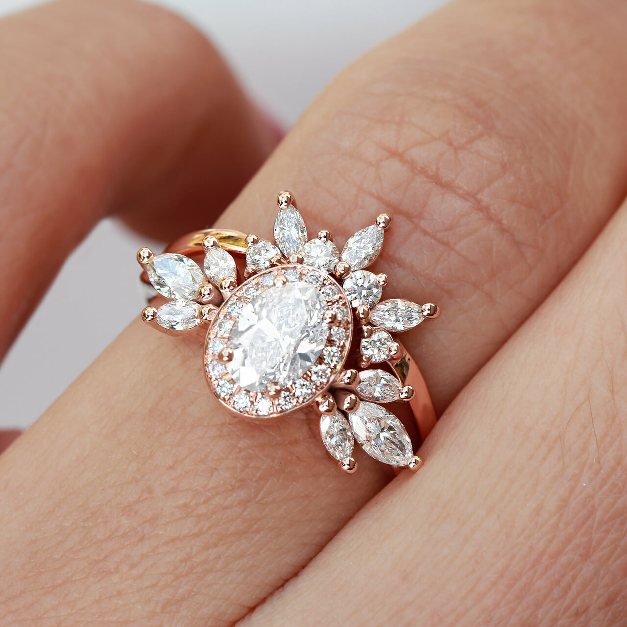 etsy, crown ring, and yellow gold ring image
