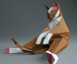 etsy, cat sculpture, and big ginger cat image