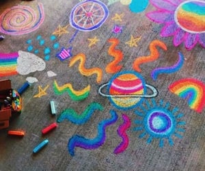 chalk, carefree, and cover image