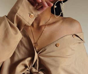 fashion, beige, and earrings image