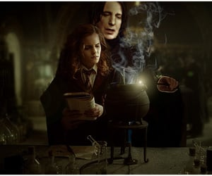 hermione granger, severus snape, and snager image