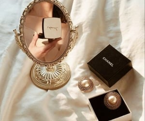 chanel, jewelry, and mirror image