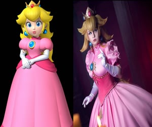 cosplay, super mario bros, and peach princess image
