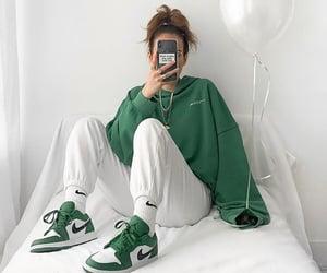 streetwear, baggy style, and mirror selfie image