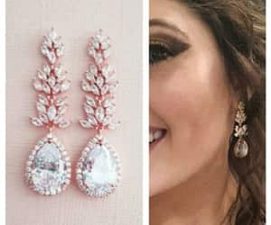 bridal jewelry, jewelry set, and statement earrings image