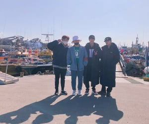 jin, b1a4, and sandeul image