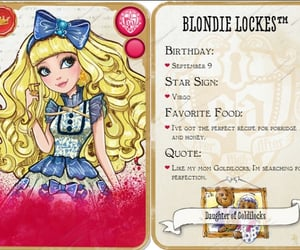 characters, ever after high, and blondie lockes image
