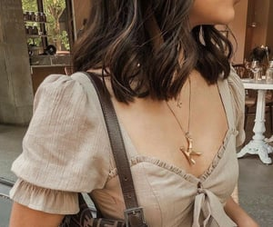 puffy sleeves, light brown, and summer trend image