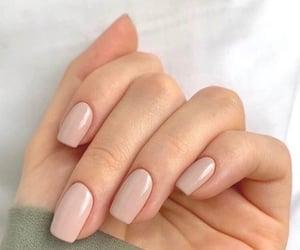 nail polish, nude nail, and nails image