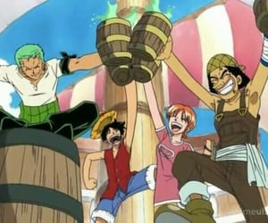 anime, usopp, and monkey d luffy image