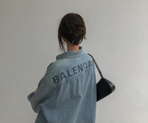Balenciaga, blue, and denim image