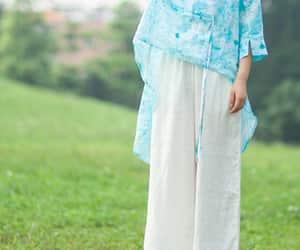 boho, etsy, and women's linen dress image