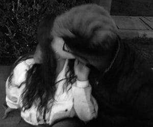 blackandwhite, kiss, and teenage image