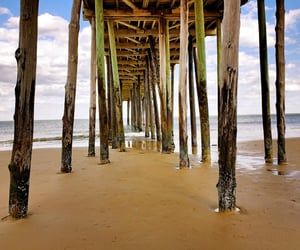 boardwalk, surf, and beaches image