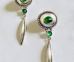 etsy, vintage earrings, and sparkling earrings image