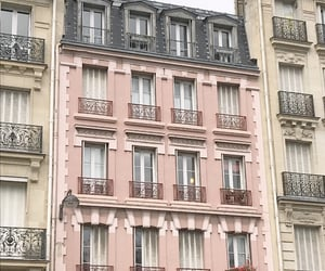 buildings, white, and pink image