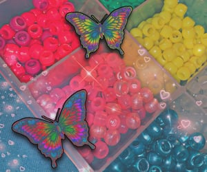 butterfly and neon image
