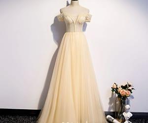beading, long dress, and evening dress image