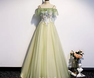 evening dress, girl, and elegant dress image