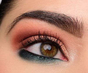 beauty, brown, and eyeliner image