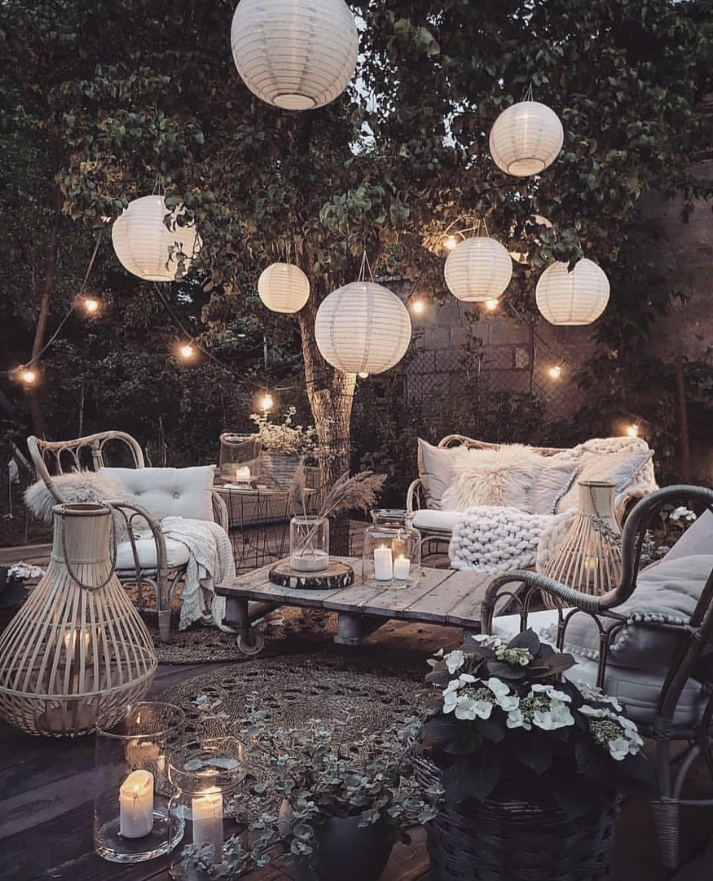 cozy, lights, and nature image