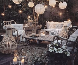 cozy, hippie, and lights image