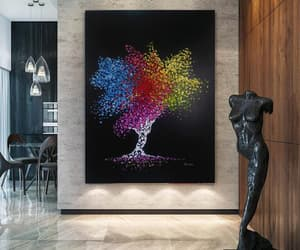acrylic paintings, etsy, and tree of life image