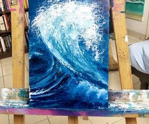 sea, art, and blue image