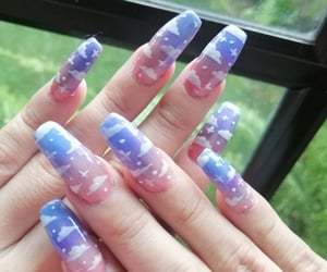 acrylic nails, instagram nails, and nail design image