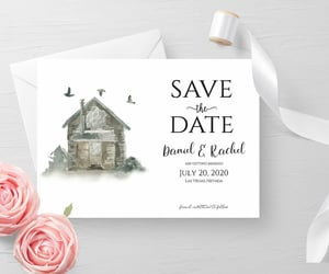 etsy, custom save the date, and save the date pdf image