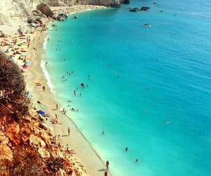 beach, holidays, and travel image