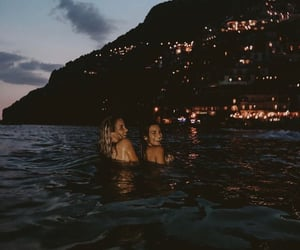 friends, girl, and night image