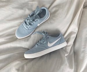 sneakers, blue, and fashion image