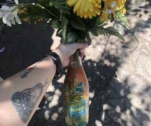 drink, flower, and snakes image