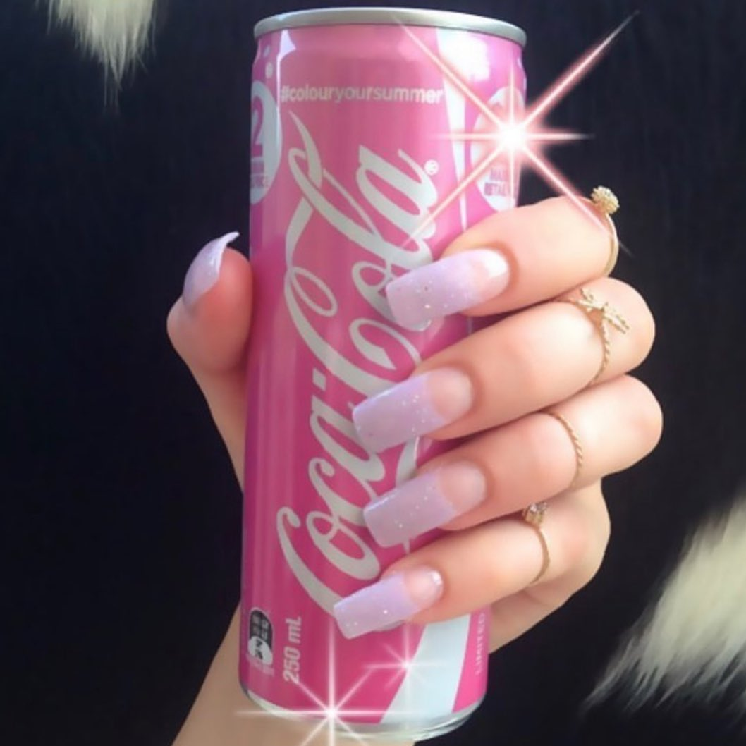 coca-cola and pink image