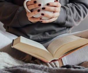 book, mug, and drink image