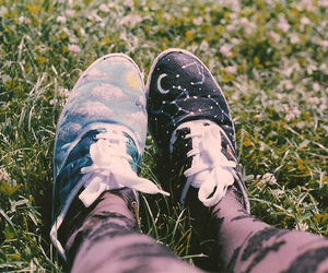 shoes, photography, and grass image