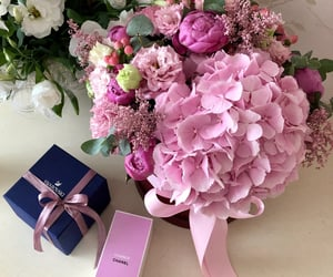 bouquet, box, and chanel image