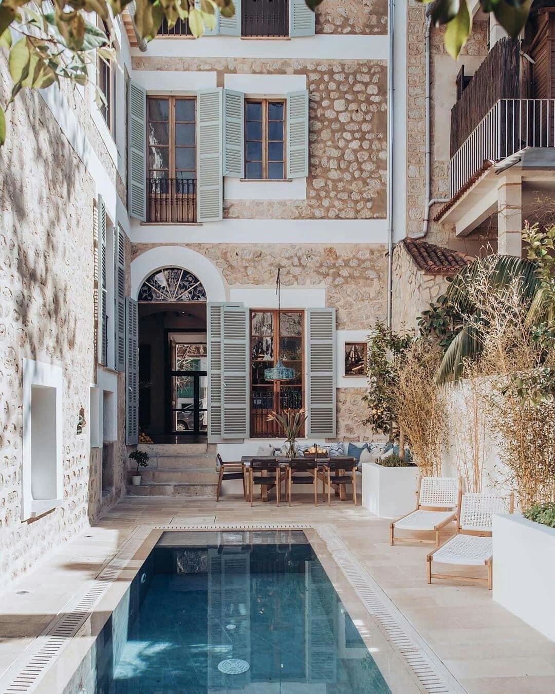 architecture, house, and pool image