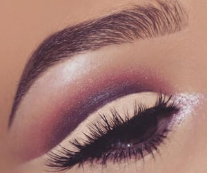 brow, lashes, and eyeliner image