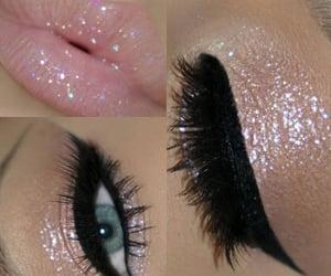 eyeliner, glow, and lashes image