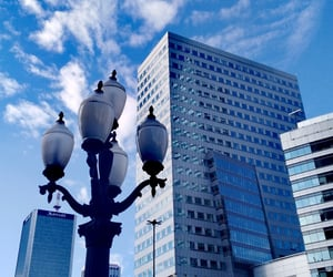 blue, city, and modern image