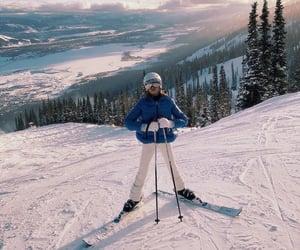 girl, Skiing, and 🇺🇸 image