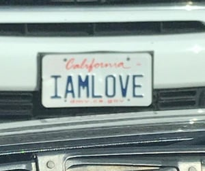 aesthetic, california, and license plate image