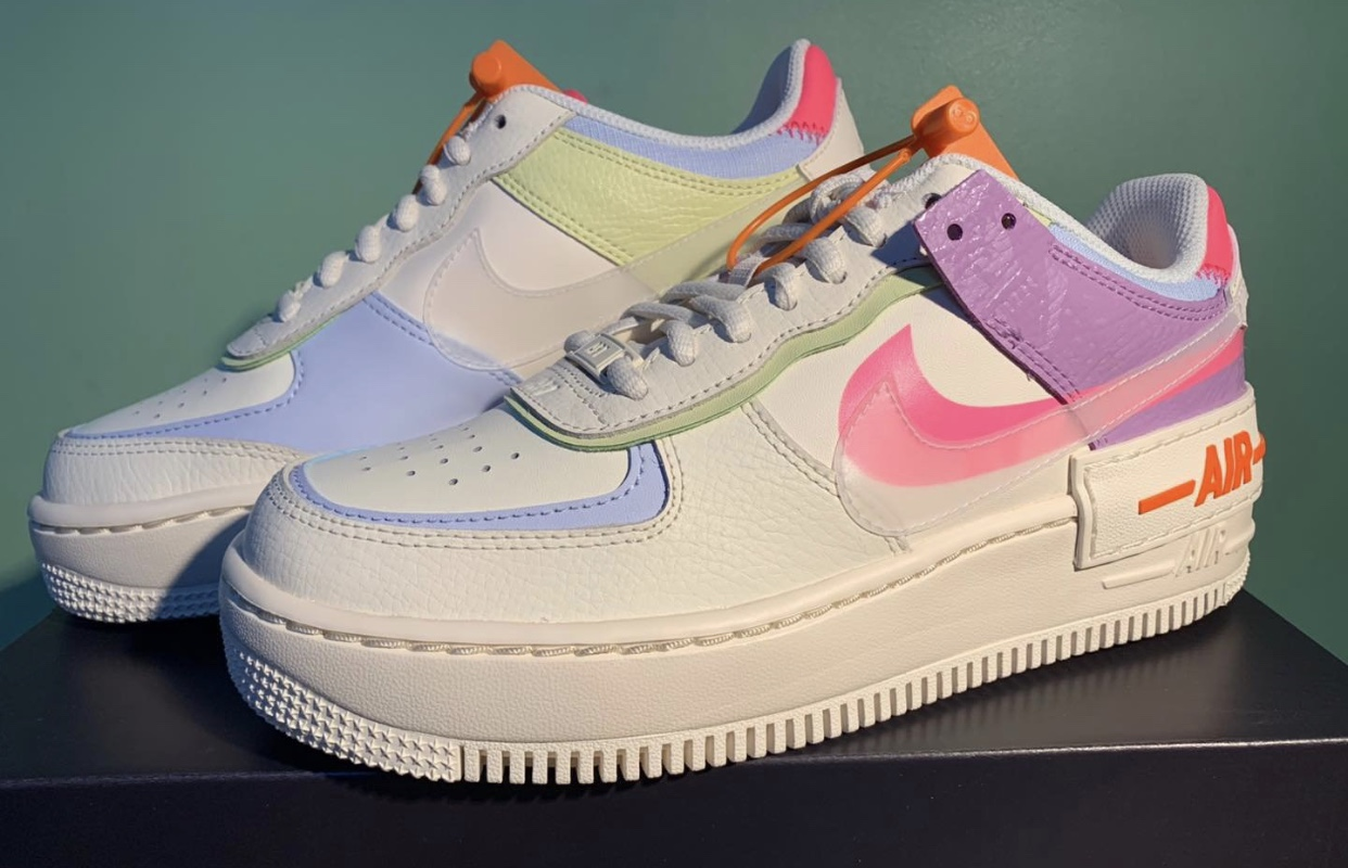2020 Nike Air Force 1 Shadow Running Shoes CU3012 164 White ...