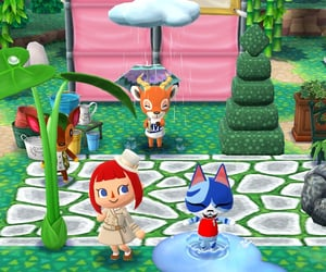 animal crossing, puddle, and pocket camp image