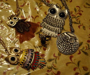 fashion, necklaces, and owl image